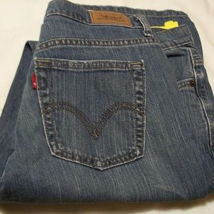 VINTAGE LEVIS 515 BOOT CUT LIGHT WASH 8 MED